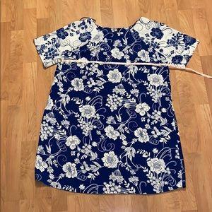 Beautiful floral shift dress - like new size 14